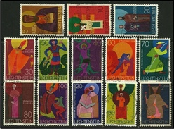 LIECHTENSTEIN 1967 - SANTI PATRONI - N. 434 / 45 Us. Serie Compl. - Cat. 7,50 € - Lotto 241