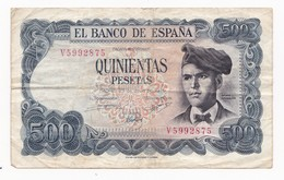 ESPAGNE 500 PESETAS  ANNEE  23 JUILLET 1971    LOT N° 5 - [ 3] 1936-1975 : Régence De Franco