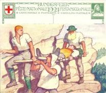 "Bundesfeierkarte 34  ""Verwundetentransport""               1921"