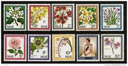 NIUE 1969 - FLOWERS / Blossoms BLÜTEN - 10v Mi 99-108 MNH ** Cv€8,00 V569