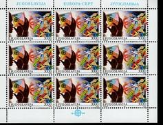 CEPT Kinderspiele Jugoslawien Kleinbogensatz 2340 - 2341  MNH ** Postfrisch