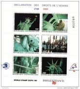 5741    -    CENTRAFRIQUE    PHILEXFRANCE  1989  -  BICENTENAIRE DE LA REVOLUTION FRANCAISE    BLOC  NEUF  6 TIMBRES