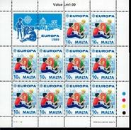 CEPT Kinderspiele Malta Kleinbogensatz 816 - 817 MNH ** Postfrisch
