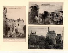 PLEDELIAC : Château De La Hunaudaye, Lot De 3 Cpa - Autres Communes
