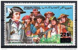 7101       COMORES   Rare Surchargé 225F Neuf  PHILEXFRANCE  1989  BICENTENAIRE DE LA REVOLUTION FRANCAISE  Q.q Défauts
