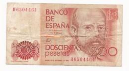 ESPAGNE  200 PESETAS  ANNEE 16 .09 1980   LOT N° A 4 - [ 4] 1975-… : Juan Carlos I