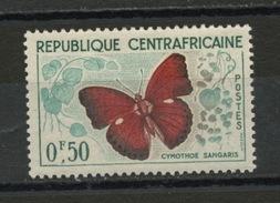 CENTRAFRIQUE : PAPILLON -  N° Yvert 4**