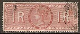 INDE Anglaise    -   FISCAL   -   1 R.  Brun-rouge.   Oblitéré.