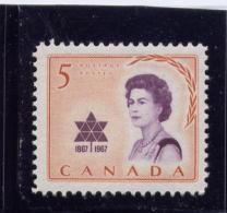 CANADA 1967, # 471, QUEEN ELIZABETH 11, CENTENARY SYMBOL  M NH - Neufs
