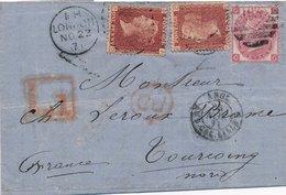 Lettre London 1px2&3p Pour La France, Levée 1 - Covers & Documents