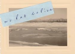 JUVISY SUR ORGE  - La Seine Prise Par La Glace Pendant La Vague De Froid Le 25 Février 1956     ( Photo 10,7 Cm X 8 Cm ) - Juvisy-sur-Orge