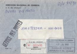 Uruguay - Recommandé/Registered Letter/Einschreiben - Montevideo - Uruguay