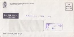 Thailand - Recommandé/Registered Letter/Einschreiben - Bangkok - Thailand