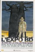 VERSAILLES -HERMANN - L'EXPO BD DU 5 AVRIL 2014 - 10X15 Cm Dos Blanc - Bourses & Salons De Collections