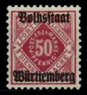 WÜRTTEMBERG DIENST Nr 143b Ungebraucht X7134E6
