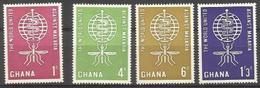 GHANA - 1962 Malaria Eradication Set Of 4 MNH **  SG 296-9  Sc 128-31