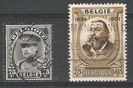 BELGIQUE   384°/385° Obliteres  C.O.B.= 6,15 Euro.