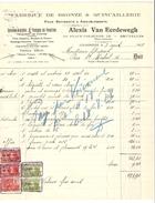 Facture Datée De Schaerbeek Du 3/8/1928 De Alexis Van Eerdewegh Bronze&Quincailleries TP Fiscaux PR4162 - 1900 – 1949