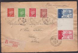 LETTRE  VICHY POUR CLERMONT-FERRAND  DU 10/12/1942  TIMBRES DE LA LÉGION TRICOLORE AVEC INTERVALLE