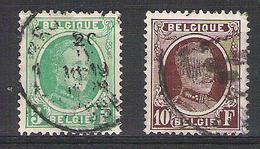 BELGIQUE   209/210 Obliteres  C.O.B.= 13,50 Euro.