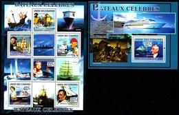 COMOROS COMORES 2009. SHIPS. SH+SS**