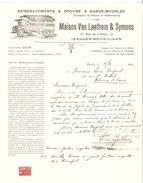 Facture Et Document Commercial Datés Ixelles 12/2/26&15/2/26 Maison Van Laethem&Symons Douane TP Fiscaux PR4163 - 1900 – 1949