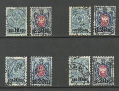 RUSSLAND RUSSIA 1917 Michel 115 - 116 O 4 Sets - 1917-1923 Republic & Soviet Republic