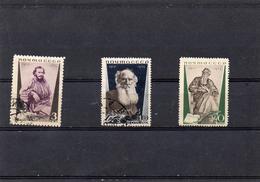 Russie 1935 - 25 Eme Mort De Tolstoi   YT 577/79 * Ou  Obl