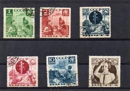 Russie 1936 -série Des Pionniers   YT 583/88  Obl
