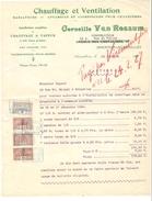 Facture Daté De Zaventem(Saventhem) 15/2/1927 De C.Van Rossun Chauffage&Ventilation TP Fiscaux PR4164 - 1900 – 1949