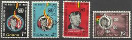 GHANA - 1963 Human Rights Set Of 4 Used  SG 328-31  Sc 160-3