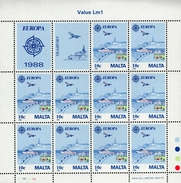 CEPT Transport Und Kommunikationsmittel Malta Kleinbogensatz 794 - 795  MNH ** Postfrisch