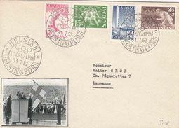 """Olympiade 1952 HELSINKI : GEÏLLUST. Bf PZ (olymp) (FIN) """"HELSINKI  / XV OLYMPIA / 31.7.52 / C / HELSINFORS"""""""""""