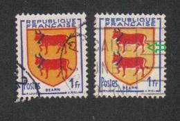 901 (o) BEARN, Silhouette Blanche,Nuances Du Jaune Et Du Bleu