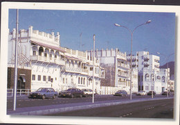 Sultanate Of Oman PPC Merchant's House Corniche Sent To Denmark (2 Scans) - Oman