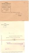 Lettre Du Service Des Postes Direction Comptabilité 1er Bureau Recommandé Timbres BXL 1 PR4166 - Documents Of Postal Services