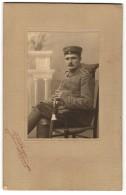 Fotografie G. Kahlmeyer, Oldenburg, Varel, Portrait Soldat Mit Schulterstück Artillerie-Regt. 62 - Krieg, Militär