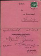 DR Postkarte, Hinweis Zum Geburts-Register, ALTENSTADT (Hessen) 27.12.1927.