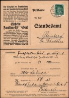 DR Poskarte, Mitteilung (Amtliches Handbuch), FRANKFURT 14.8.1928.