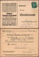 DR Poskarte, Mitteilung (Amtliches Handbuch), WERDER (Havel) 16.2.1928 N. Steinberg.