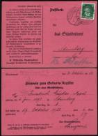 DR Postkarte, Hinweis Zum Geburts-Register, SPRENDLINGEN 27.12.1928 N. Steinberg.