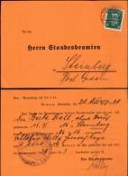 DR Poskarte,'Verweisung Auf Heirat'. Stadesamt GEDERN 23.3.1929 N. Steiberg.