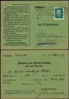 DR Postkarte, Hinweis Zum Geburts-Register, DARMSTADT 5.2.1929.
