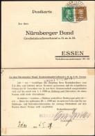 DR Postkarte, Mit Sonderstempel, JDAR 4.1.1929 N. 'Nurnberger Bund', Essen.