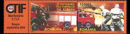 ROMANIA 2004 Firemen (Set With Label)