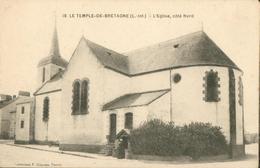 LE TEMPLE-de-BRETAGNE - L'Eglise, Côté Nord - France