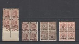 REGNO 1923 FRANCOBOLLI SOP.TI 4 VALORI IN QUARTINA - Nuevos