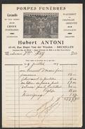 Pompes Funèbres Hubert Antoni Bruxelles 1918 - Belgique