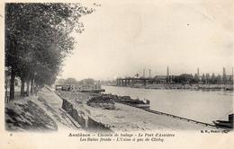 CPA ASNIERES - CHEMIN DE HALAGE - LE PORT D'ASNIERES - LES BAINS FROIDS - L'USINE A GAZ DE CLICHY - Asnieres Sur Seine