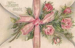 BONNE ANNEE. - Joli Bouquet De Roses. Carte Gaufrée - Nouvel An